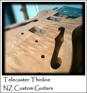 Telecaster Thinline NZ Custom Guitars Luthier