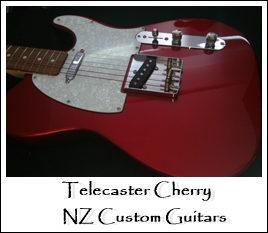 Telecaster Cherry NZ Custom Guitars
