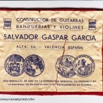 Etiqueta Salvador Gaspar Garcia