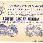 Tarjeta Agustin Gaspar Cebrian