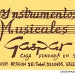 Tarjeta Gaspar (Sanchis Bergon)