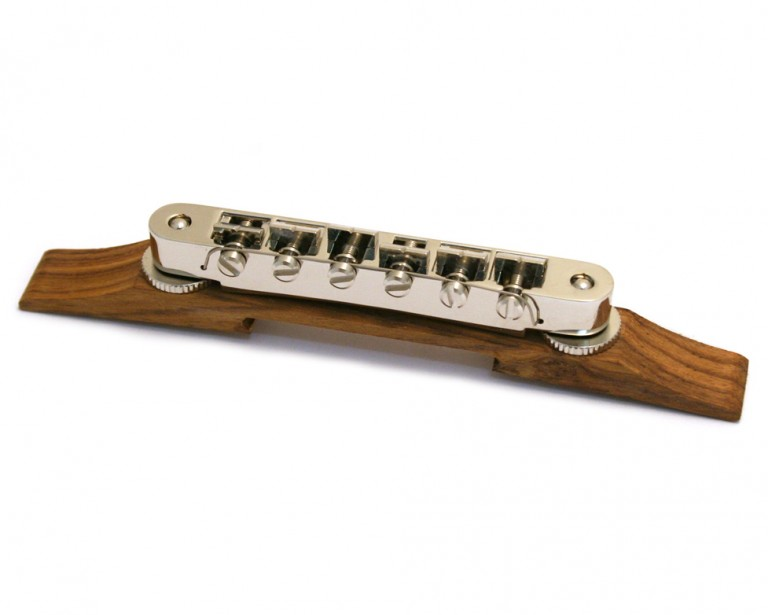 Puente Palo Santo guitarra Archtop Tune O Matic cromado