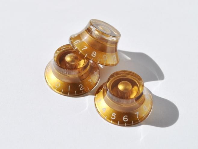 Botón Potenciómetro Campana Dorado