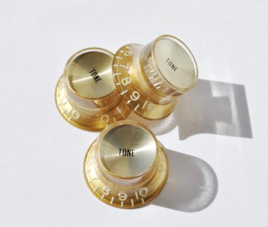 Botón Potenciómetro Tipo SG Tono Dorado