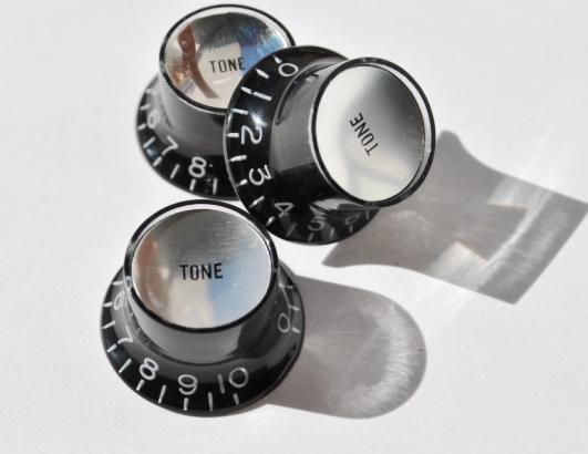 Botón Potenciómetro Tipo SG Tono Negro