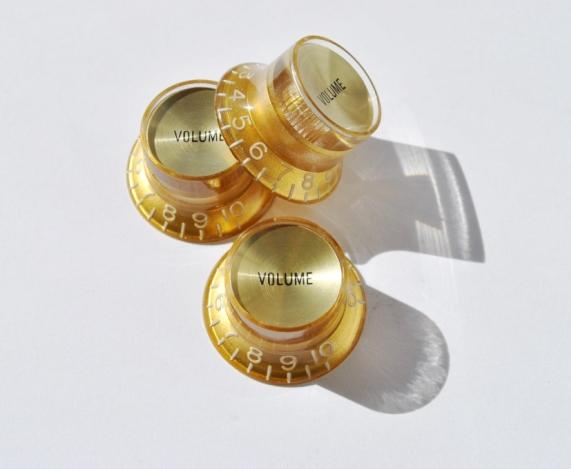 Botón Potenciómetro Tipo SG Volumen Dorado