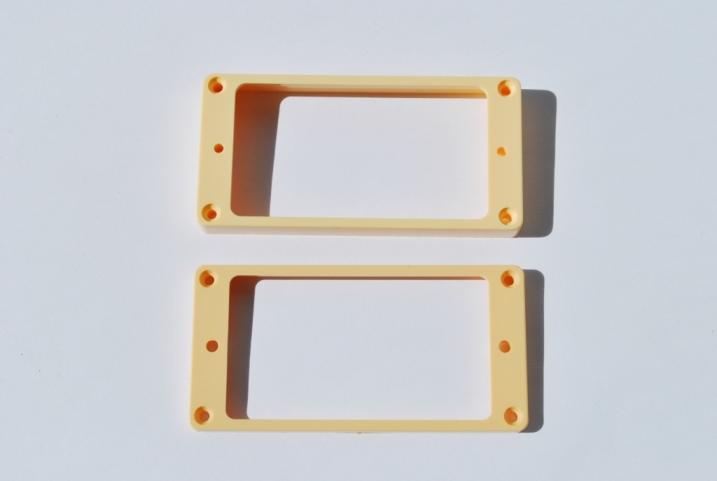 Marcos Pastillas Humbucker Crema plástico plano