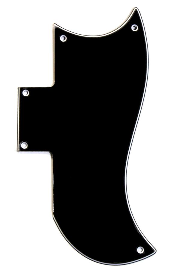 Golpeador Tipo SG Negro 3 capas 5 agujeros