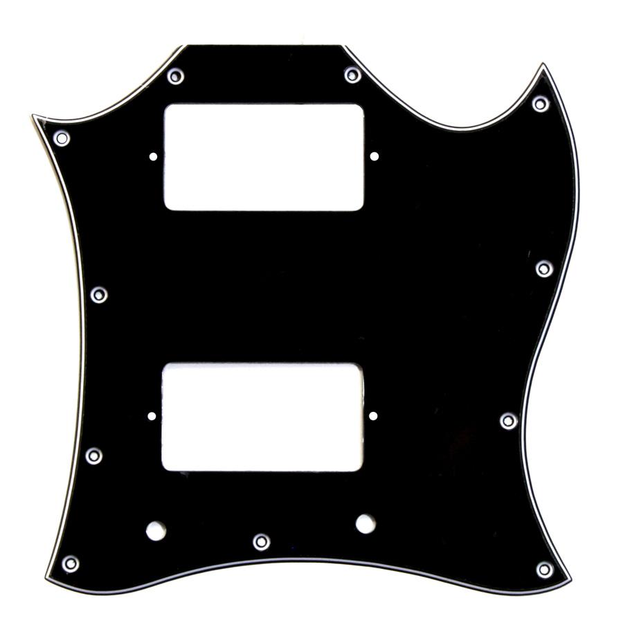 Golpeador Tipo SG Negro 3 capas 11 agujeros