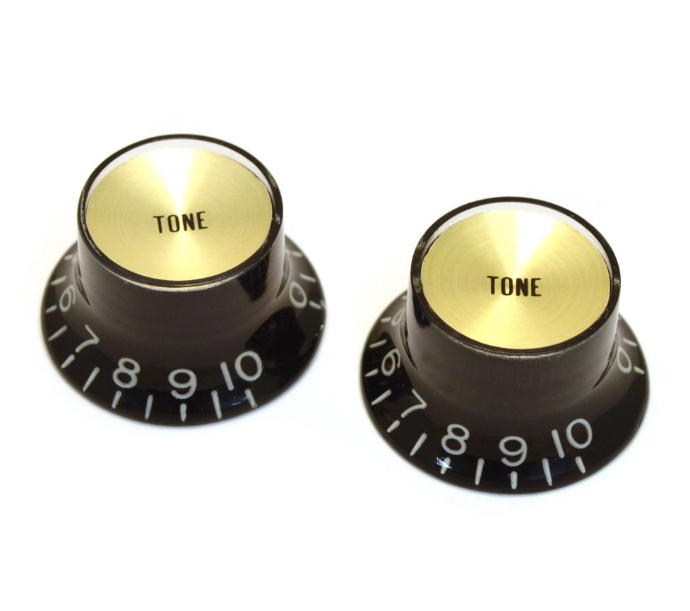 Botón Potenciómetro Reflector Black-Gold Tono